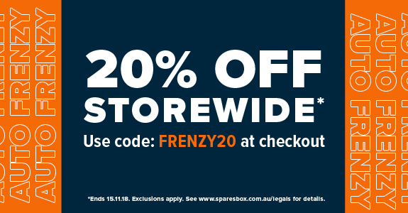 20% off Sitewide with Auto Frenzy at Sparesbox