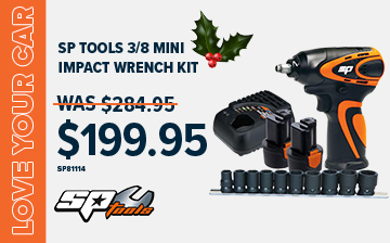 "SP Tools 3/8"" Impact Wrench Kit NOW $199.95"